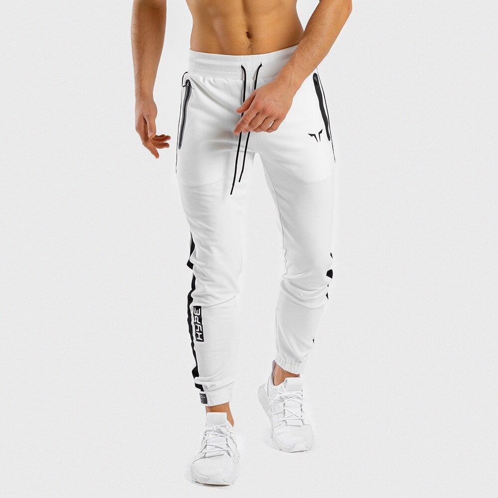 Брюки мужские спортивные, эластичные штаны для бега и фитнеса, модные повседневные тренировочные, для спортзала и бодибилдинга, на осень