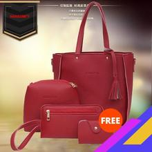 2020 New Style Fashion Embossed Leather Four-piece Set Different Size Bags Tasse