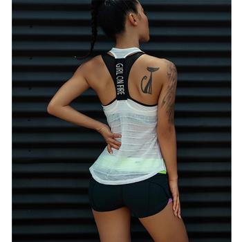 Damskie podkoszulki sportowe na koszulka na siłownię Top Fitness koszulka bez rękawów odzież sportowa koszulka do jogi top odzież koszulka na siłownię bieganie trening tanie i dobre opinie WOMEN CN (pochodzenie) COTTON Poliester Oddychające Pasuje prawda na wymiar weź swój normalny rozmiar Suknem Koszule