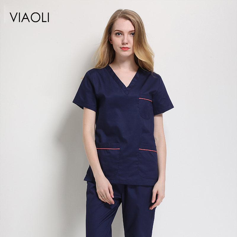 Dental Clinic Tops/Suits Summer Pharmacist Work Uniforms Short-sleeved Medical Suits Nursing Shirt Doctor Costume Women Clothes