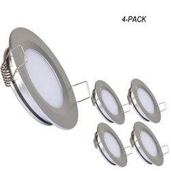 Topoch mały Downlight LED 3W matowy dyfuzor ultra cienki zaciski sprężynowe mocowanie pełne Aluminium 12V światło kopuły wnętrze dla łodzi RV