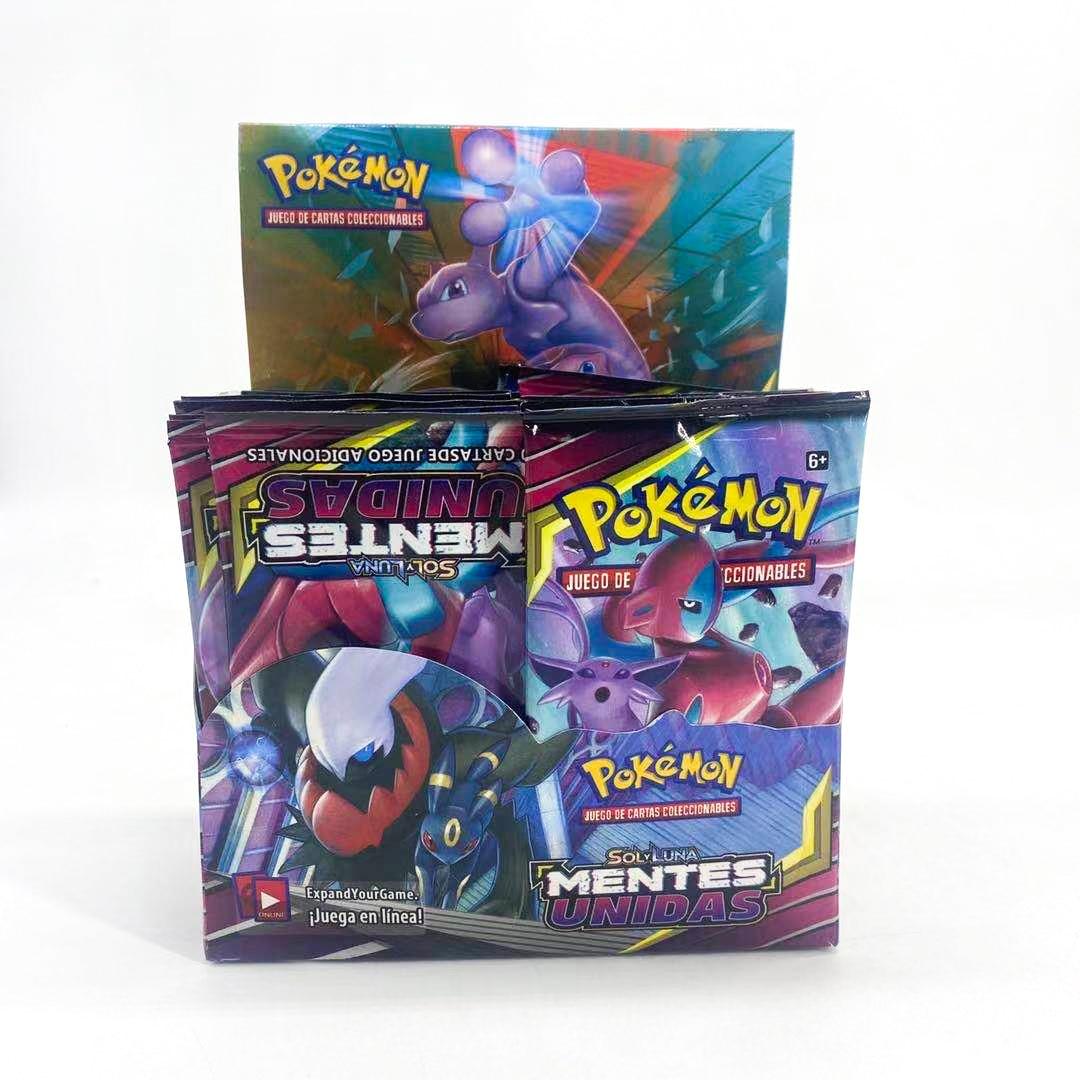 Pokemon Spanish Trading Card Game Sword Shield Collection сияющая коробка Vmax Card Energy Trainer Tag Team 324 шт./компл. карточные игрушки
