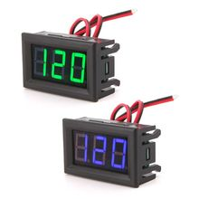 AC 70-500V Digital Voltmeter LED Display Panel 2 Wire Volt Voltage Test Meter ac 70v to 400v red led digital panel voltage meter voltmeter black