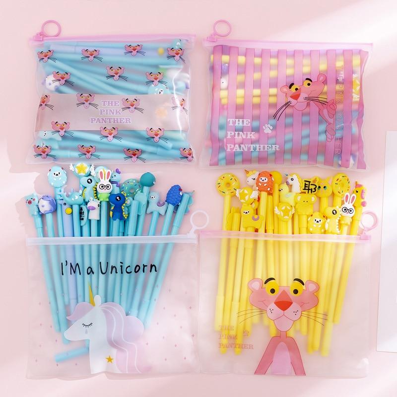 20pcs set 1 Bag Is 20pcs South Korea Girl Gel Pen Wholesale Student Cute Cartoon Gel Pen Wholesale School Supplies Factory