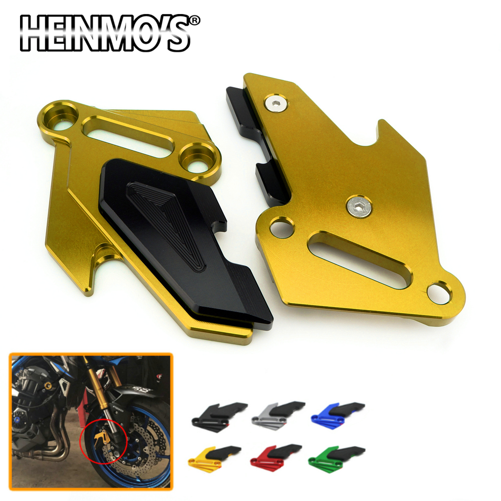 CNC Aluminum Motorbike Front Brake Disc Caliper Brake Guard Cover Protector for Kawasaki Z900 2017