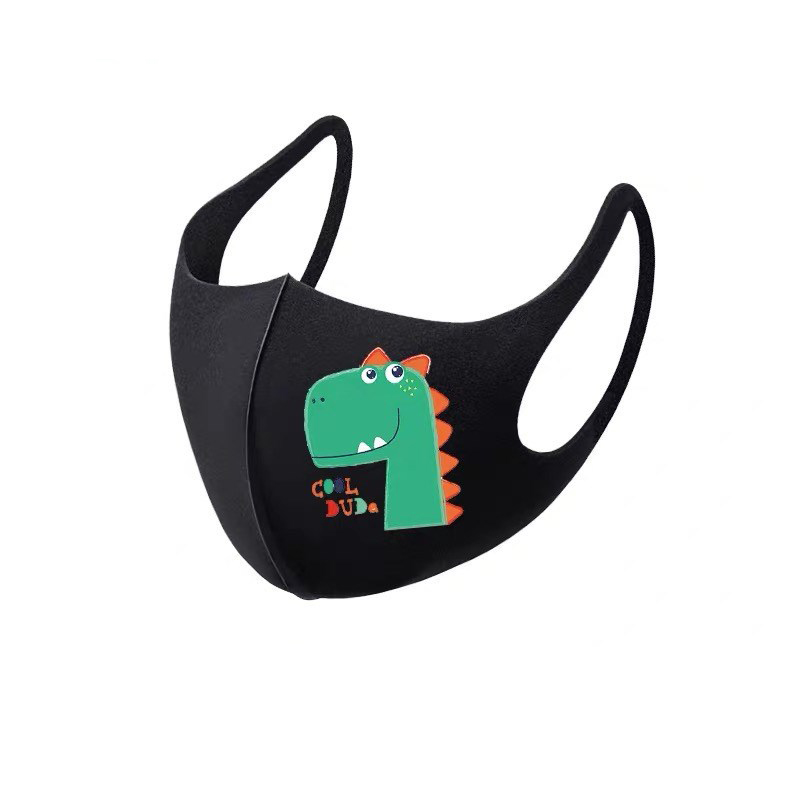 10Pcs PM2.5 Summer Children Mask Breathable Cartoon Animals Thicken Smog Mask Dust Mask Fits 4-12 Years Old Kids Washable 4