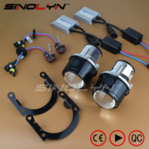 Sinolyn Fog Lights Universal Full Kit Bixenon Lens H11 HID Projector Driving Lamp Bifocal Lenses Waterproof Cars Accessories DIY