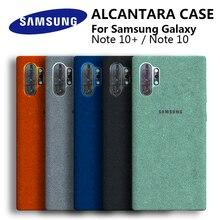 Официальный чехол для Samsung Note 10 Plus из алькантары, оригинальный защитный чехол из натуральной замши для SAMSUNG Galaxy Note10 Pro 10 +