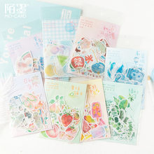 46pcs/bag Paper Sticker Bag Small Fresh Series Creative Fresh Character Diy And Paper Decorative Stickers(China)