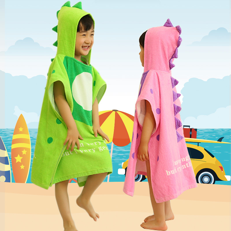 Kids Swimming Mantle Cloak Bath Towel 2019 New Style Small Baby Pig Hooded Large Size Toweling Baby Bathrobe