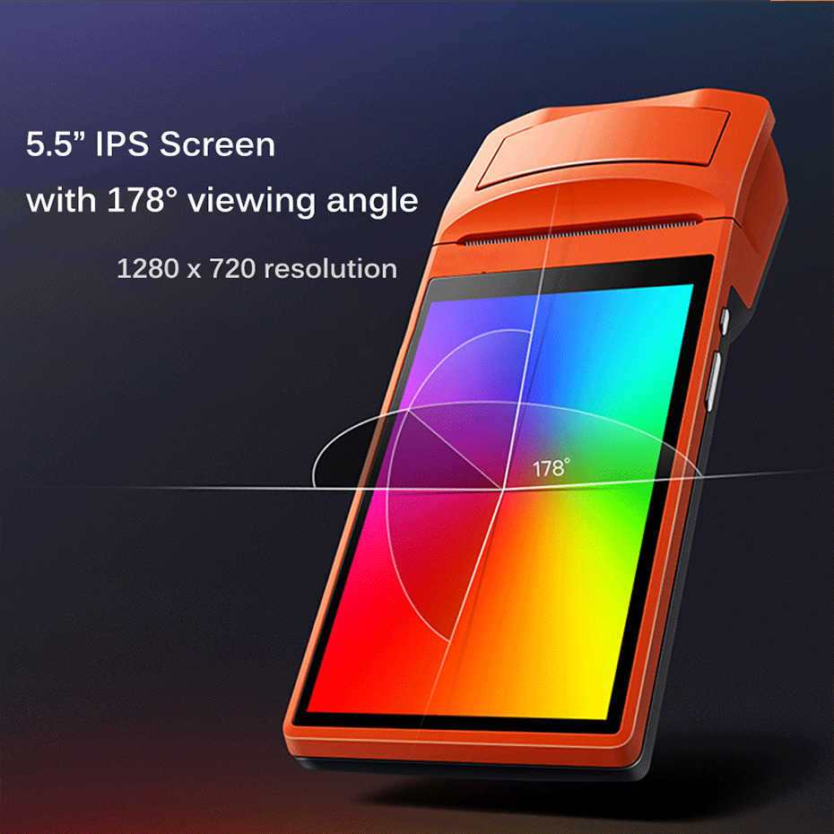 ISSYZONEPOS PDA Android Bluetooth impresora de recibos térmicos 58mm altavoz impresora Wifi 2D QR escáner ranura para tarjeta Sim venta al por menor