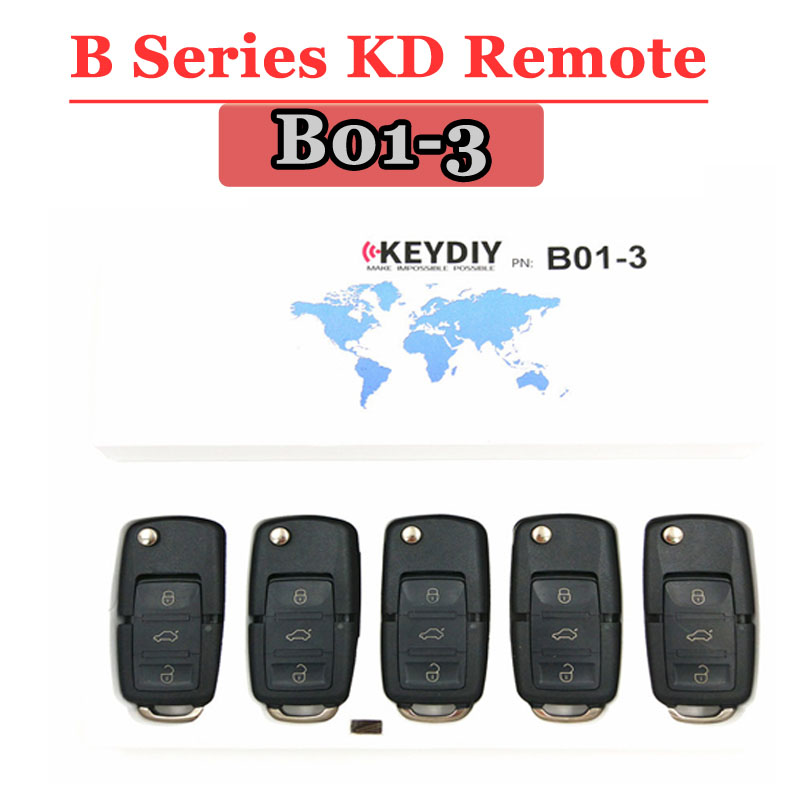 Free shipping 5pcs lot  B01 kd900 remote 3 Button B series remote key for vw Style For KD100 KD200  Machine