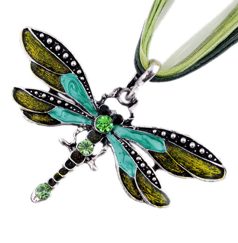 SUMENG New ParagraphWomen Crystal Dragonfly Ribbon Casual Pendant Necklace for Women ewelry 2021 Gifts