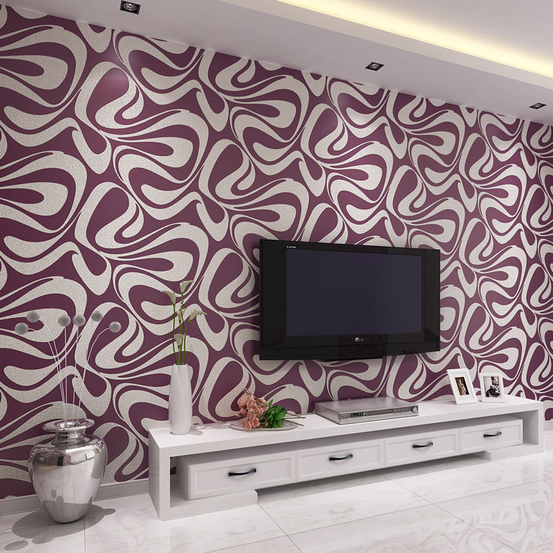 Modern Minimalist 3D Abstract Suede Non-woven Wallpaper Bedroom Bedside Living Room Television Background Wall Wallpaper