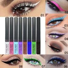 Crayon Makeup Pencil Lapiz Ojos Liquid-Eyeliner Permanente Colorido Yeux 8/12pcs/set