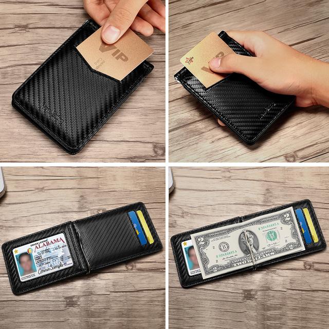 Black Carbon Fiber-Look Money Clip