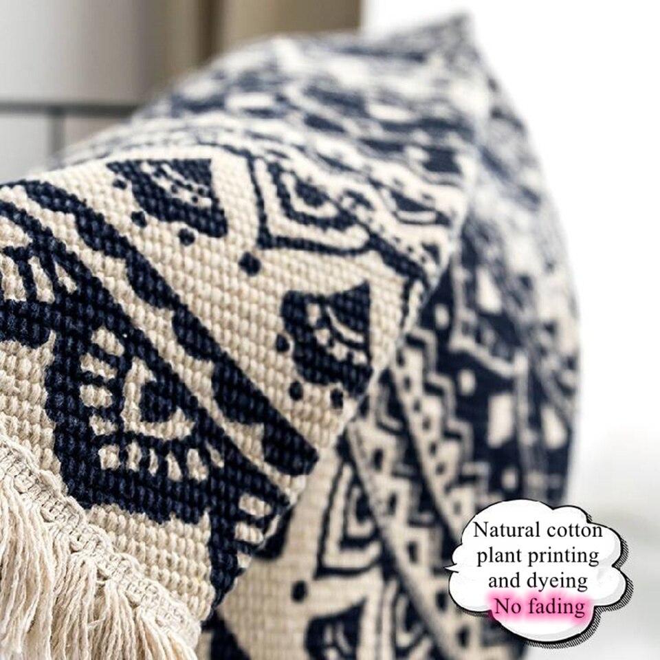 Image 3 - Morocco Round Carpet Bedroom Boho Style Tassel Cotton Rug Hand Woven National Classic Tapestry Sofa Cushion Tatami Floor MatsCarpet   -