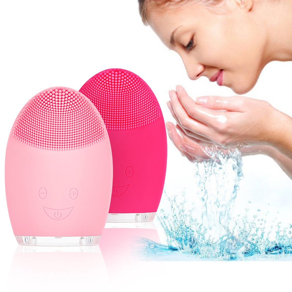Face Cleaning Brush Electric Facial Cleanser Washing Brush Mini Electric Facial Brush Waterproof Silicone VIP DROPSHIPPING