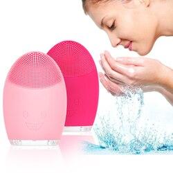Rosto escova de limpeza facial elétrica escova de lavagem mini elétrica escova facial à prova dwaterproof água silicone vip dropshipping