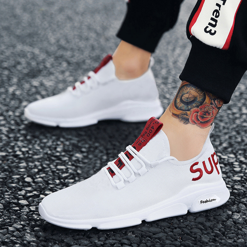 MEN'S SHOES Mesh Sports Running Shoes Trendy Shoes Breathable Casual STUDENT'S Shoes Fashion Shoes Spring And Autumn