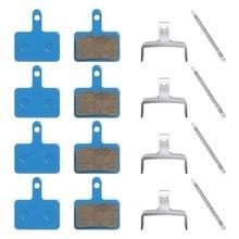 4 Pairs of Bicycle Brake Pads for TRP Tektro Shimano Deore Br-M575 M525 T675 M495 M475 M465 M446 M375 C601 C501S, Etc suntnur mtb brake pads for shimano m375 m395 m416 m445 m446 m485 m486 m515 m525 tektro bike brake pads 4 pairs