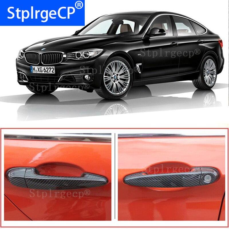 Pour BMW série 3GT 3GT F34 335i 320i 328i 325d 340i 2013-2019 accessoires 100% couverture de poignée de porte extérieure en fibre de carbone véritable