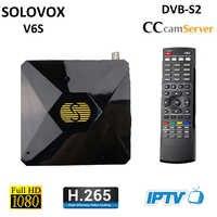 V6S Mini DVB-S2 numérique Satellite récepteur Support M3U roue CCCAM TV Xtream Stalker Powervu Auto-roll TV tourneur récepteur S-V6