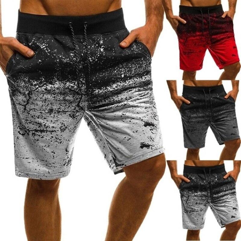 Men Casual Shorts Fashion Printed Joggers Short Sweatpants 2020 Summer Drawstring Hip Hop Slim Workout Shorts Plus Size