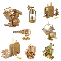 Microcosm Mini Pure Copper Brass Steam Engine Model Toy Creative Gift Set with or without Boiler Home Decoration Birhtday Gift