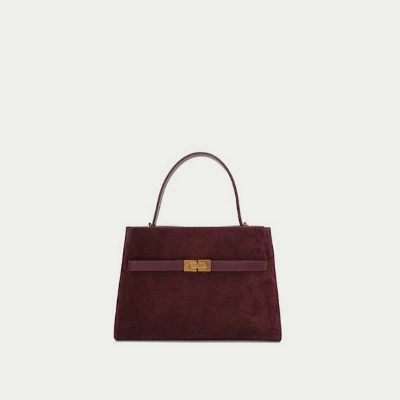 Genuine Leather Women Bag Hand-held Messenger Women's Handbag One Shoulder Commuter Purse Fashion Colors Matching  New Arrival
