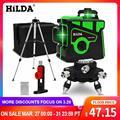 HILDA лазерный уровень 12 линий  HILDA мощный 3D лазерный уровень самовыравнивания  зеленый