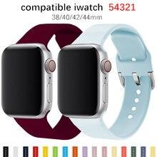 Ремешок для Apple Watch band 44 мм 40 мм для iwatch серия браслетов 5 4 3 2 1 42 мм 38 мм аксессуары для наручных часов correa pulseira