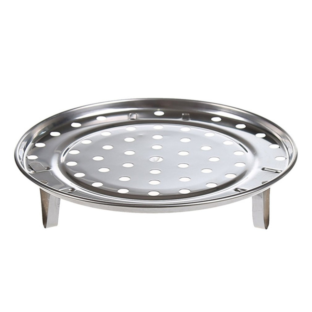 New Arrival Pot Steaming Tray Stand Cookware Tool Multifunctional Home Kitchen Round Stainless Steel Steamer Rack Insert Stock