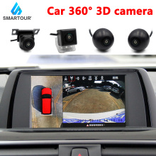 Smartour 3d hd 360 surround vista do carro sistema de monitoramento, pássaro vista sistema, 4 câmera dvr hd 1080p gravador/monitoramento estacionamento