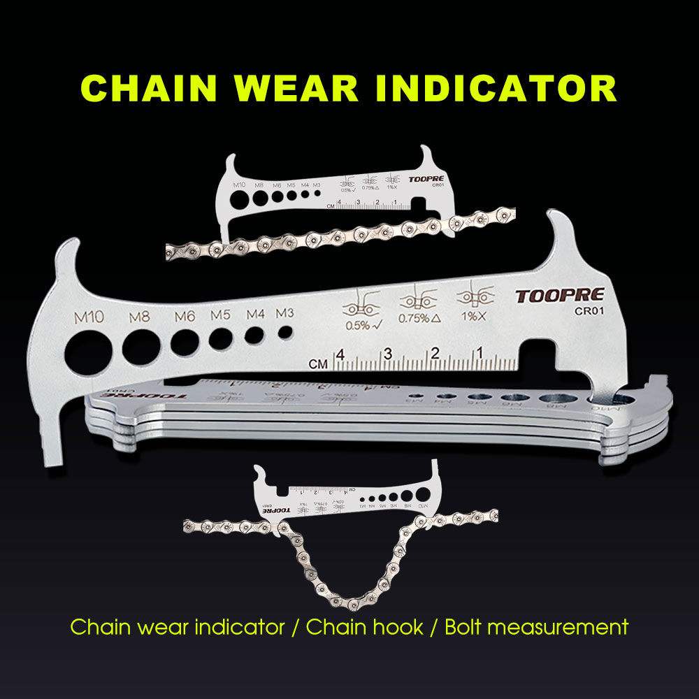 Exact 3 In 1 Bike Bicycle Chain Checker Wear Indicator Chain Hook Bolt Measurement For 8 9 10 11 Speeds Cycling Stainless Steel