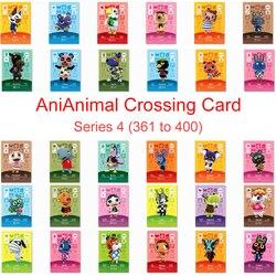 Seria 4 (361 do 400) Animal Crossing Card karta Amiibo praca dla NS 3DS przełącznik gra nowe horyzonty Lucky Rosie Zucker Villager Card| |   -