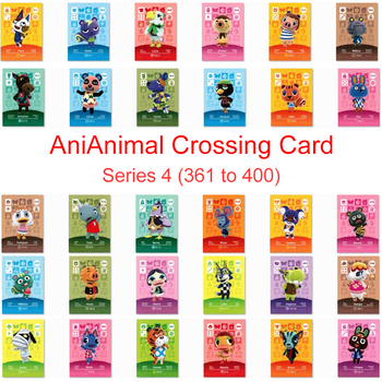 Series 4 (361 To 400) Animal Crossing Card Amiibo Card Work For NS 3DS Switch Game New Horizons Lucky Rosie Zucker Villager Card