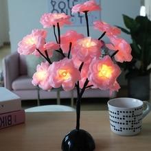 LED Flower Tree Light LED Tabletop Tree Light  LED Night Light  Decor for Home Party Wedding 4Colors Tree Light Battery D30
