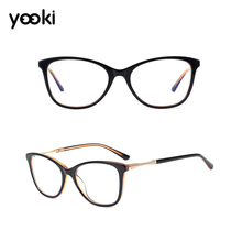 Top Quality Acetate Retro Cat Eye Glasses Frame Optical Prescription