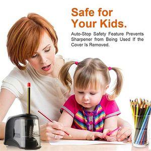 Image 4 - Elektrikli kalemtıraş en iyi ağır helisel çelik bıçak sanatçılar çocuklar yetişkinler için renkli kalemler