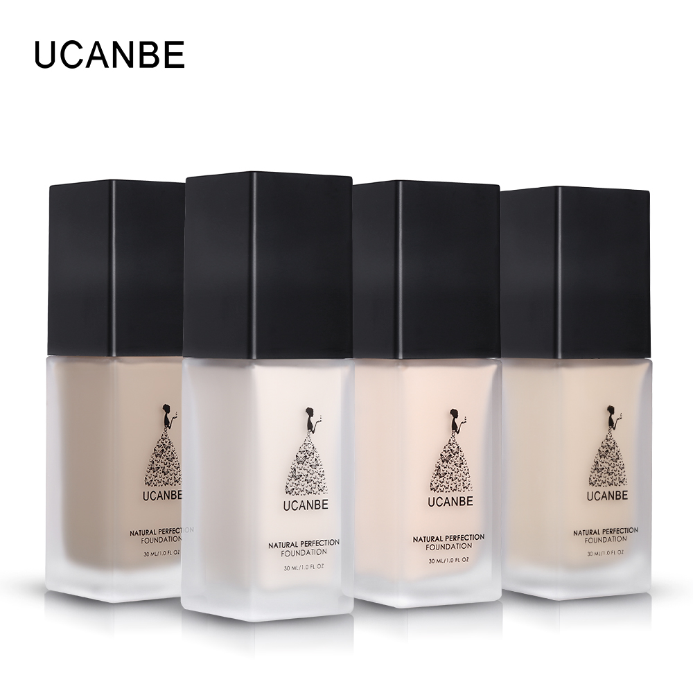 UCANBE Brand Natural Perfection Liquid Foundation Makeup Full Coverage Concealer Whitening Primer BB Cream Waterproof Cosmetics