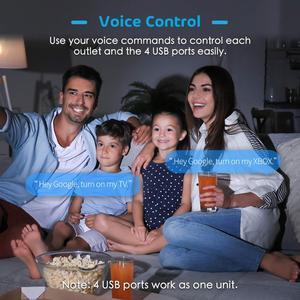 Image 2 - Protection contre les surtensions WiFi intelligente, multiprise, Assistant Alexa et Google et IFTTT pris en charge, télécommande App Meross MSS425F EU/JP