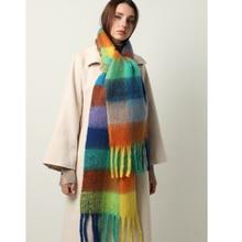 Толстый теплый шарф для женщин Зимний шейный платок шали с кисточками пашмины шарфы Дамская кашемировая бандана для мужчин дизайн