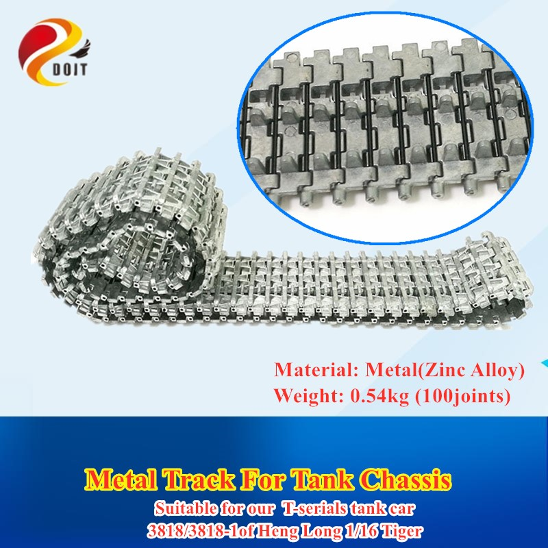 Metal Tracks Caterpillar Crawler Chain for 3818/3818-1 RC Tank Parts Heng Long 1/16 Tiger I Tank Car Chassis