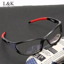 Glasses-Frame Computer-Gaming-Eyeglasses Anti-Blue-Light Clear-Lens Sport-Eyewear Men