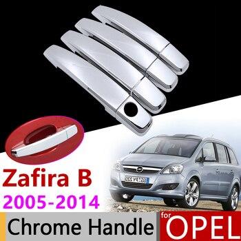 Auto Zubehör Außen Tür Chrom Griff Abdeckung für Opel Vauxhall Chevrolet Zafira Familie B 2005 ~ 2014 2013 Trim Set aufkleber