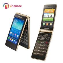 Samsung Galaxy Flip altın I9235 yenilenmiş cep telefonu Unlocked 3G 3.7