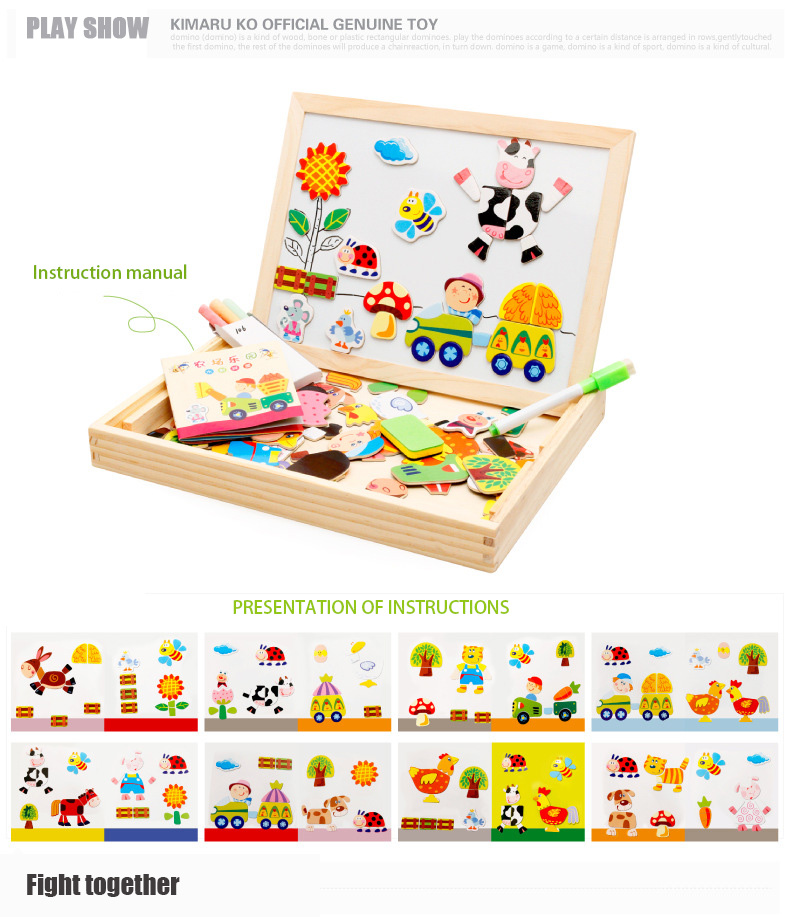 Wooden Kids Child Education Magnet Whiteboard Puzzles Toys Games Gifts YOU PICK