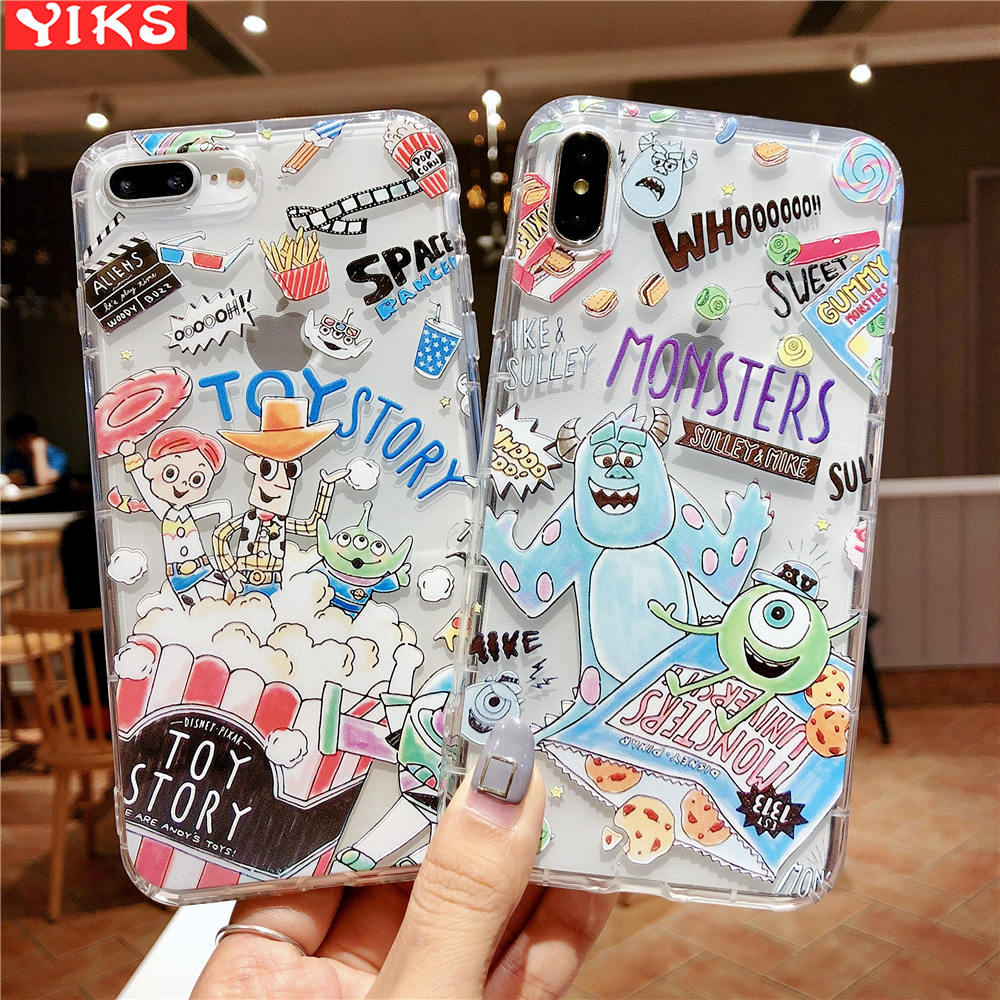 3D Tide Brand <font><b>Toy</b></font> <font><b>Story</b></font> Buzz Woody Couple Phone Case For <font><b>iPhone</b></font> 11 Pro XS Max X <font><b>XR</b></font> 8 7 6 6S Plus Etui Fundas <font><b>Coque</b></font> image