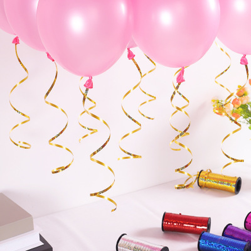 WHOLESALE 100 MT Curling Foil Balloons Ribbons Helium string tie Ribbon Birthday